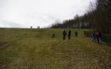 pohled na vzdušný líc hráze VD N4 Jinonice
