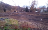 stavební práce na rybníce Terezka