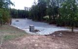 rybník Lipiny připravený na napuštění