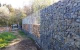 Výstavba gabionového plotu
