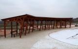 Dřevěný altán v parku U Čeňku