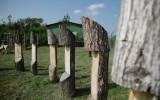 Cesta dřeva - ukázka různých druhů dřev