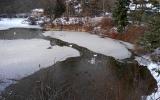 hostivarske jezirko v zime